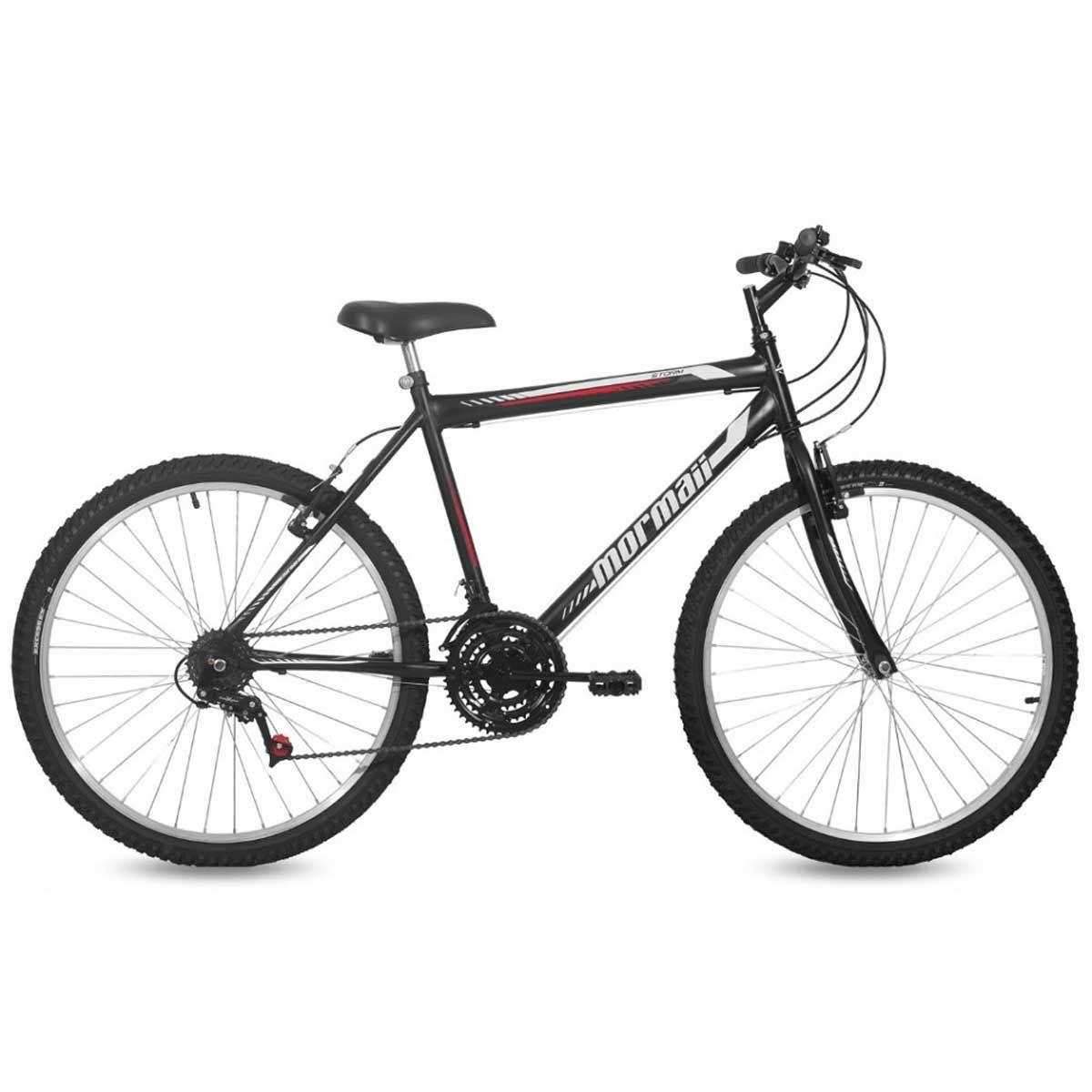 Bicicleta Mormaii Storm Aro 26 Rígida 18 Marchas - Preto