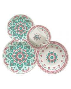 Jogo De Jantar Cerâmica 20 Peças Donna - Perola