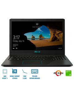 "Notebook F570ZD AMD Ryzen5/8GB/1TB/Win10 Tela 15,6"" Asus - Preto"