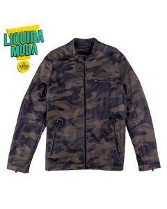 Jaqueta Masculino Adulto PU Camuflado Thing Militar