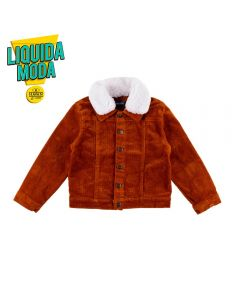 Jaqueta de 1 a 3 Anos Gola de Pelo Yoyo Kids Caramelo