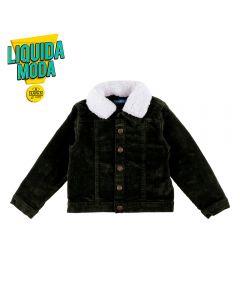 Jaqueta de 1 a 3 Anos Gola de Pelo Yoyo Kids Militar