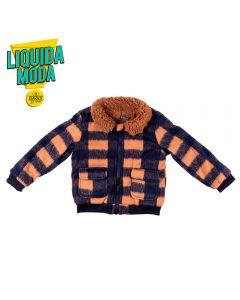 Jaqueta de 1 a 3 Anos Soft Xadrez Yoyo Kids Caramelo