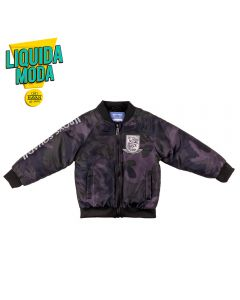 Jaqueta de 1 a 3 Anos Camuflada Yoyo Kids Chumbo