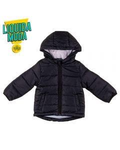 Jaqueta de Bebê Nylon Yoyo Baby Preto
