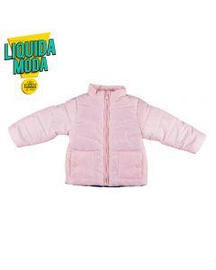 Jaqueta de Bebê com Forro Estampado Yoyo Baby Rosa Claro