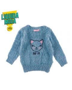 Blusa de Bebê Pelinhos Yoyo Baby Azul