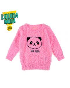 Blusa de Bebê Pelinhos Yoyo Baby Rosa