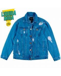 Jaqueta Jeans Feminina Adulto Contatho Azul