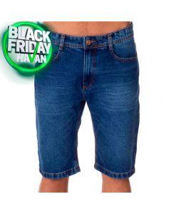Bermuda Jeans com Bigode e Used Thing Blue