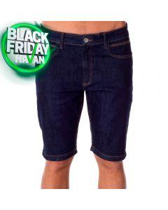 Bermuda Jeans Amaciada com Bolso Thing Dark Blue