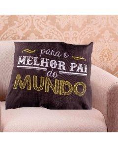 Almofada 45X45 Dia Dos Pais 2019 - Melhor Do Mundo