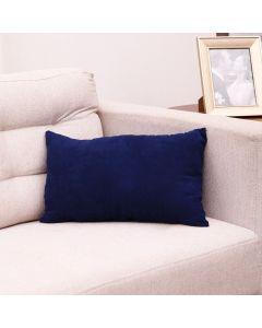 Almofada Camurça 30x50cm com Zíper Havan - Azul Marinho