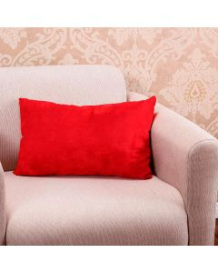 Almofada Camurça 30x50cm com Zíper Havan - Vermelho