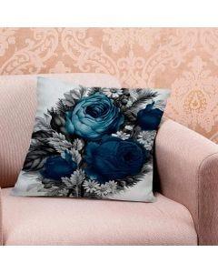 Almofada de Veludo Estampada 48x48cm - Buque Azul