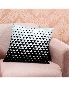 Almofada de Veludo Estampada 48x48cm - Blend Branco