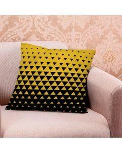 Almofada de Veludo Estampada 48x48cm - Blend Amarelo