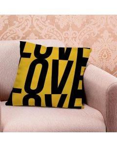 Almofada de Veludo Estampada 48x48cm - Lovely Amarelo
