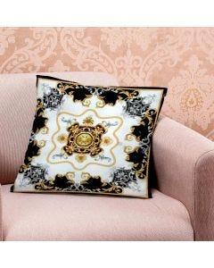 Almofada de Veludo Estampada 48x48cm - Arabesco Moldura