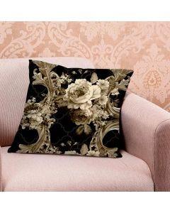 Almofada de Veludo Estampada 48x48cm - Rosa Sepia