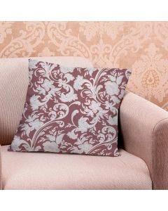 Almofada de Veludo Estampada 48x48cm - Arabesco Rose