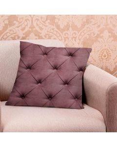 Almofada de Veludo Estampada 48x48cm - Captone Rose