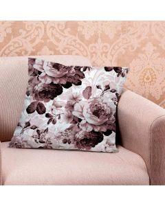 Almofada de Veludo Estampada 48x48cm - Arabesco Rosas