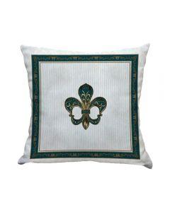 Almofada De Veludo Estampada 48X48cm - Antique Esmeralda