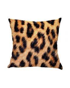 Almofada De Veludo Estampada 48X48cm - Leopardo Print