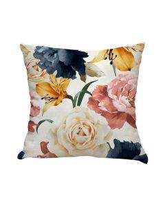 Almofada De Veludo Estampada 48X48cm - Floral Linho