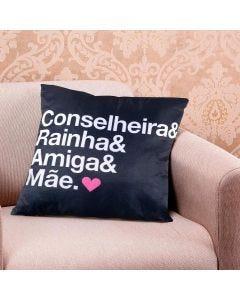 Almofada Decorativa 45x45cm Data Especial - Mae Conselheira