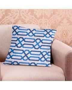 Almofada Decorativa 45x45cm Estampada com Zíper - Cinza Claro