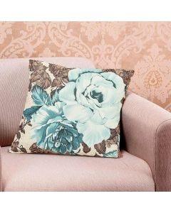 Almofada Decorativa 45x45cm Estampada com Zíper - Bouquet Pinho