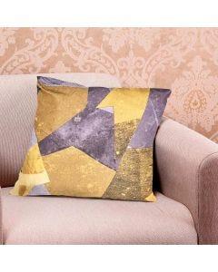 Almofada Decorativa 45x45cm Estampada com Zíper - GEO Amarelo
