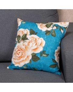 Almofada Decorativa 45x45cm Estampada com Zíper - Rosas Ibia