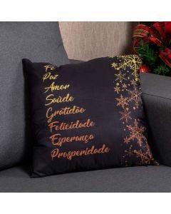 Almofada Decorativa 45X45cm Natal - Votos