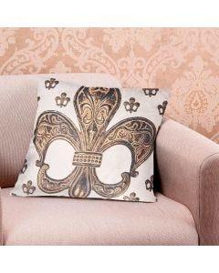 Almofada Decorativa 48X48cm Veludo Estampada Finecasa - Bronze