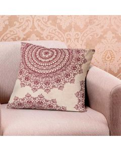 Almofada Decorativa 48x48cm Veludo Estampada Finecasa - Bordo