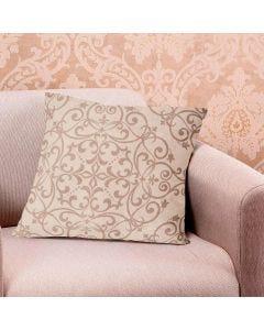Almofada Decorativa 48x48cm Veludo Estampada Finecasa - Marrom