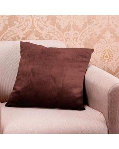 Almofada Decorativa 50x50cm em Veludo Italiano - Marrom