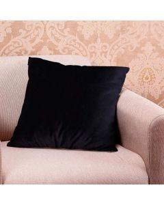 Almofada Decorativa 50x50cm em Veludo Italiano - Preto