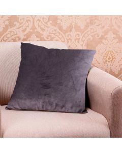 Almofada Decorativa 50x50cm em Veludo Italiano - Cinza