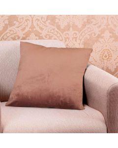 Almofada Decorativa 50x50cm em Veludo Italiano - Rose Claro