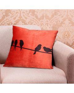 Almofada Decorativa 50x50cm em Veludo - Laranja Claro
