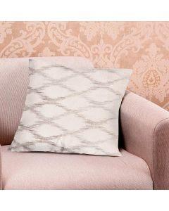 Almofada Decorativa 45x45cm Veludo Estampado - Bege Medio