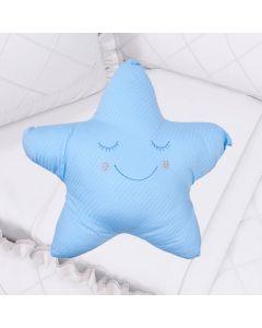 Almofada Decorativa Formato de Estrela - Azul