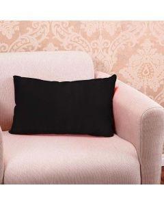 Almofada Decorativa Lisa de 30x50cm Veludo Italiano - Preto