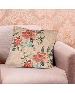 Almofada Linen 45x45cm Estampada - Flores Linho