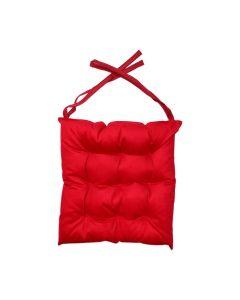 Almofada para Assento Futton 42x42cm Veludo Italiano - Vermelho