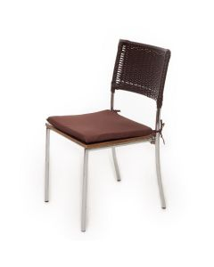 Almofada Quadrada 40x40cm para Cadeira Havan - Marrom Liso